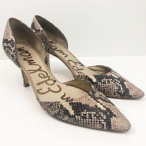 Sam Edelman Snakeskin Print Heels Size 9